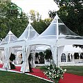 Outsunny 22.3ft Octagonal Party Tent Wedding Event Shelter Outdoor with 8 Removable Walls White